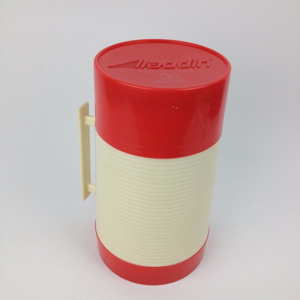 VTG Aladdin Hy-Lo Wide Mouth 1 Pint Thermos Bottle Red Soup Container USA #Aladdin