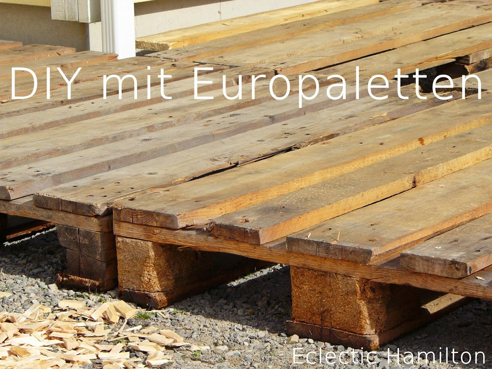diy terrasse aus euro paletten diy mit paletten. Black Bedroom Furniture Sets. Home Design Ideas