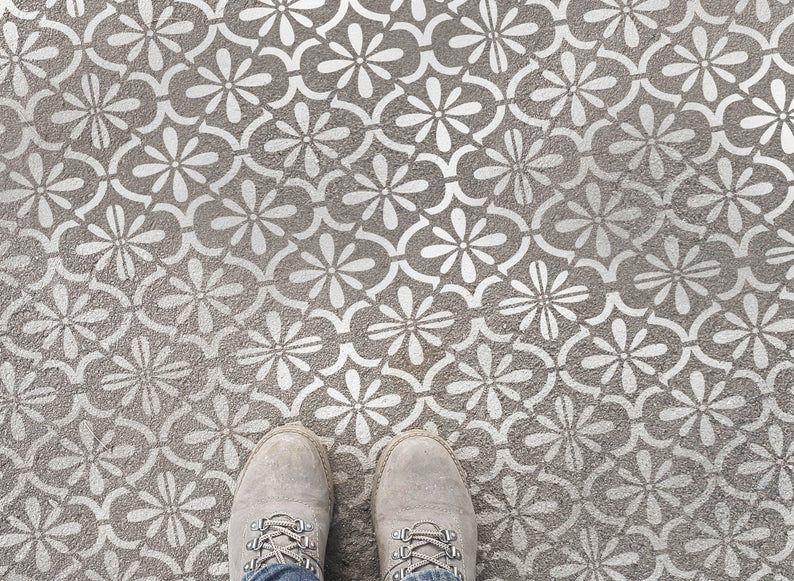 Boden Schablone für Pflastersteine Fliesen Schablone Wand