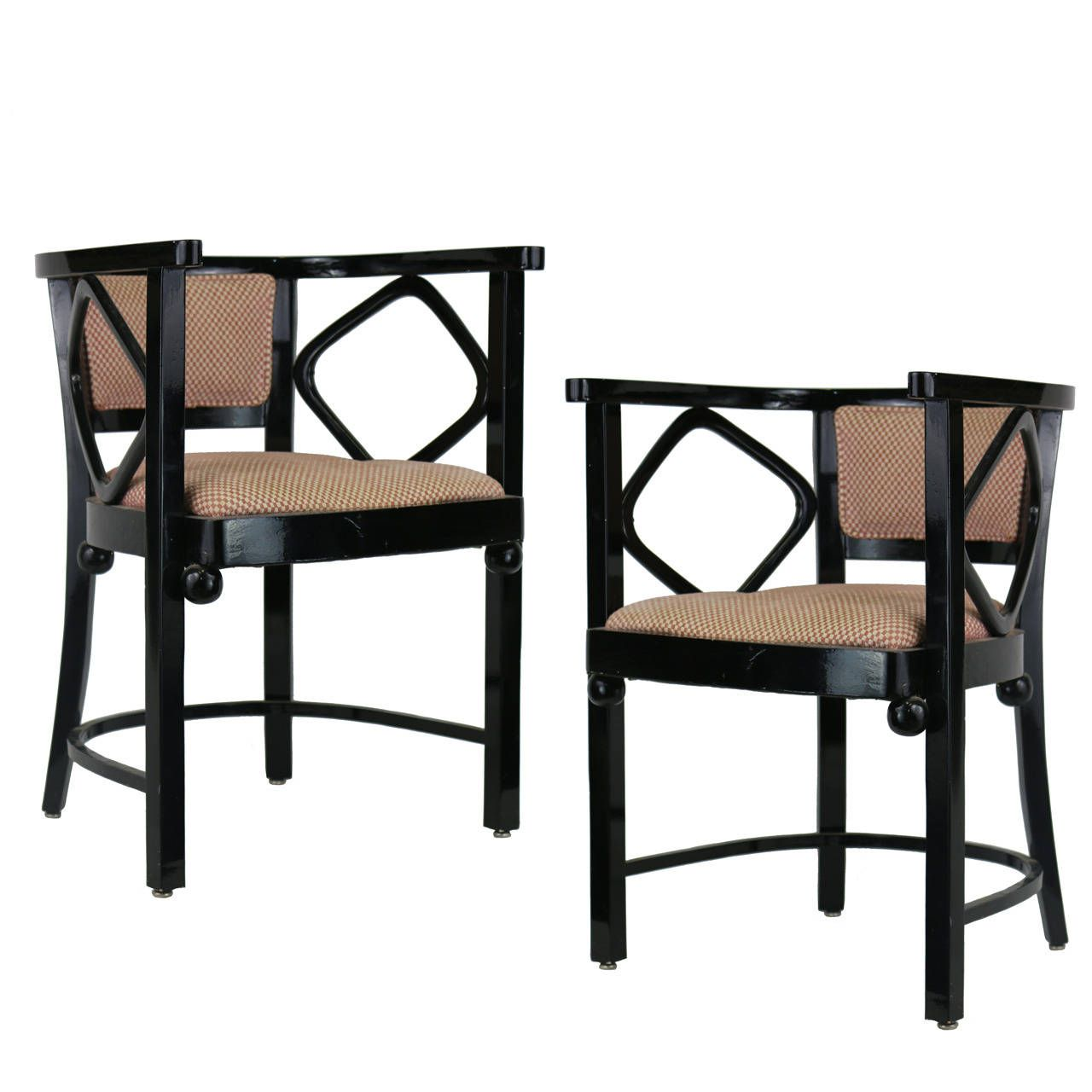 1960s Style Furniture 1960s pair of joseph hoffman fledermaus inspired chairs