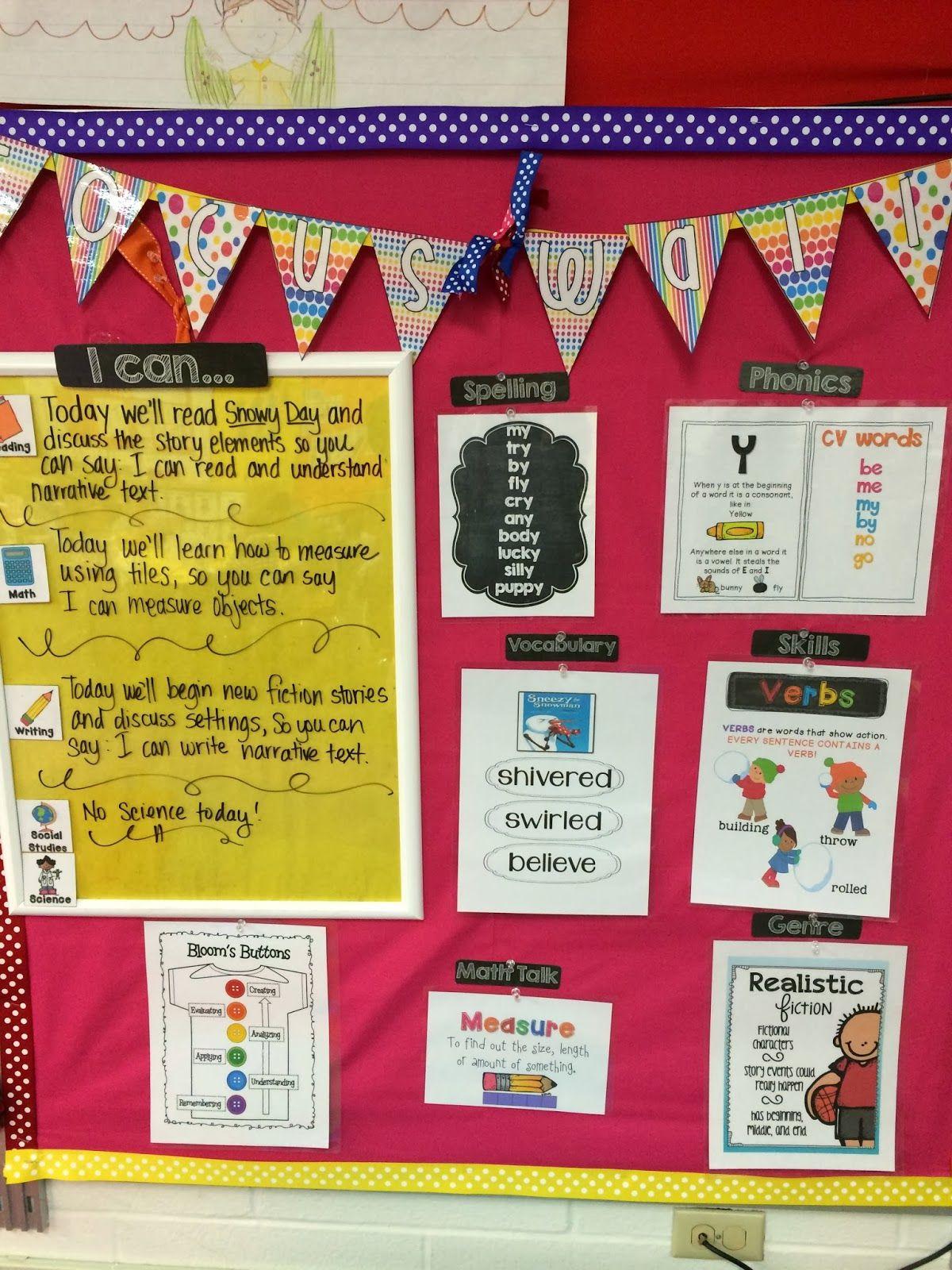 First grade focus wall | Focus wall ideas | Pinterest | Walls ...