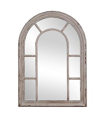 Sheffield Home Shabby White Windowpane Mirror Mirror Mirrors For Sale Arched Window Mirror