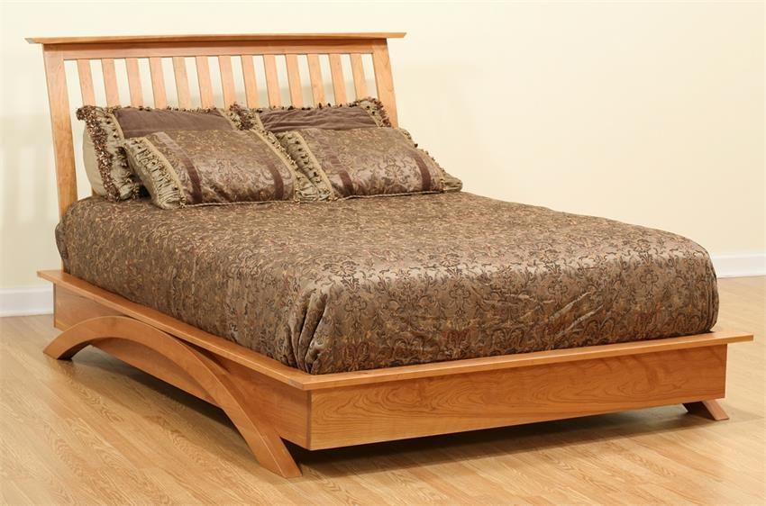 Amish Gateway Modern Platform Bed Modern Platform Bed Furniture Wooden Platform Bed