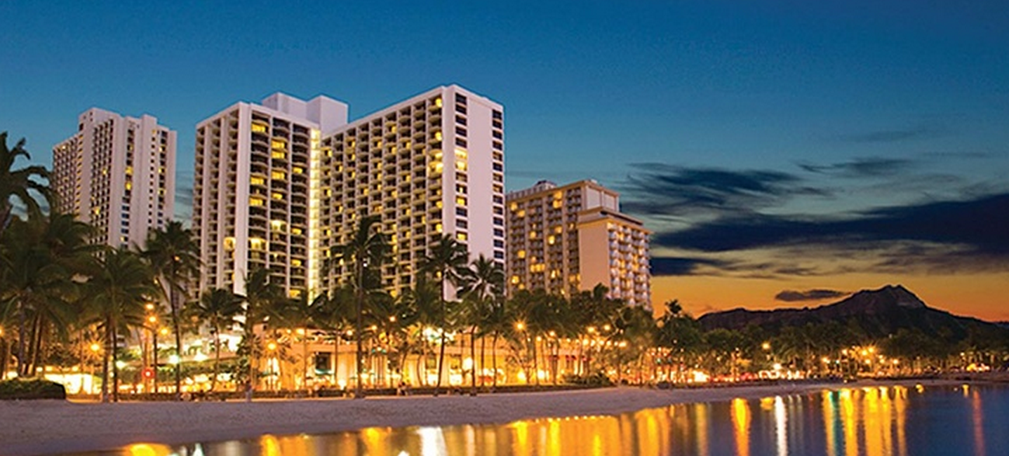 Sunset Over The Beach At Our Waikiki Beach Marriott Resort