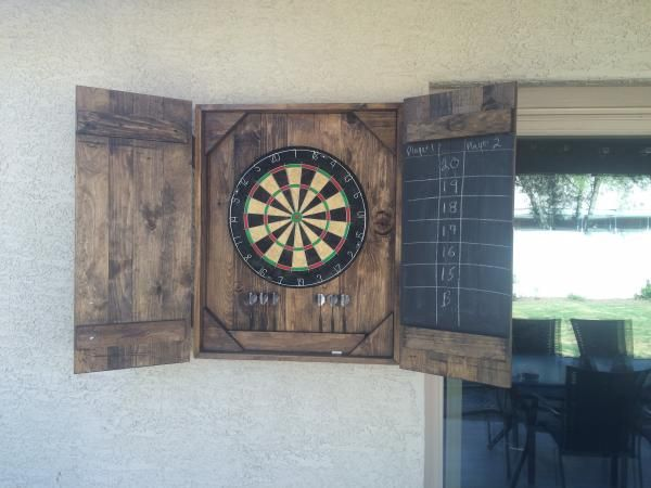Dart board case do it yourself home projects from ana white dart board case diy projects solutioingenieria Image collections
