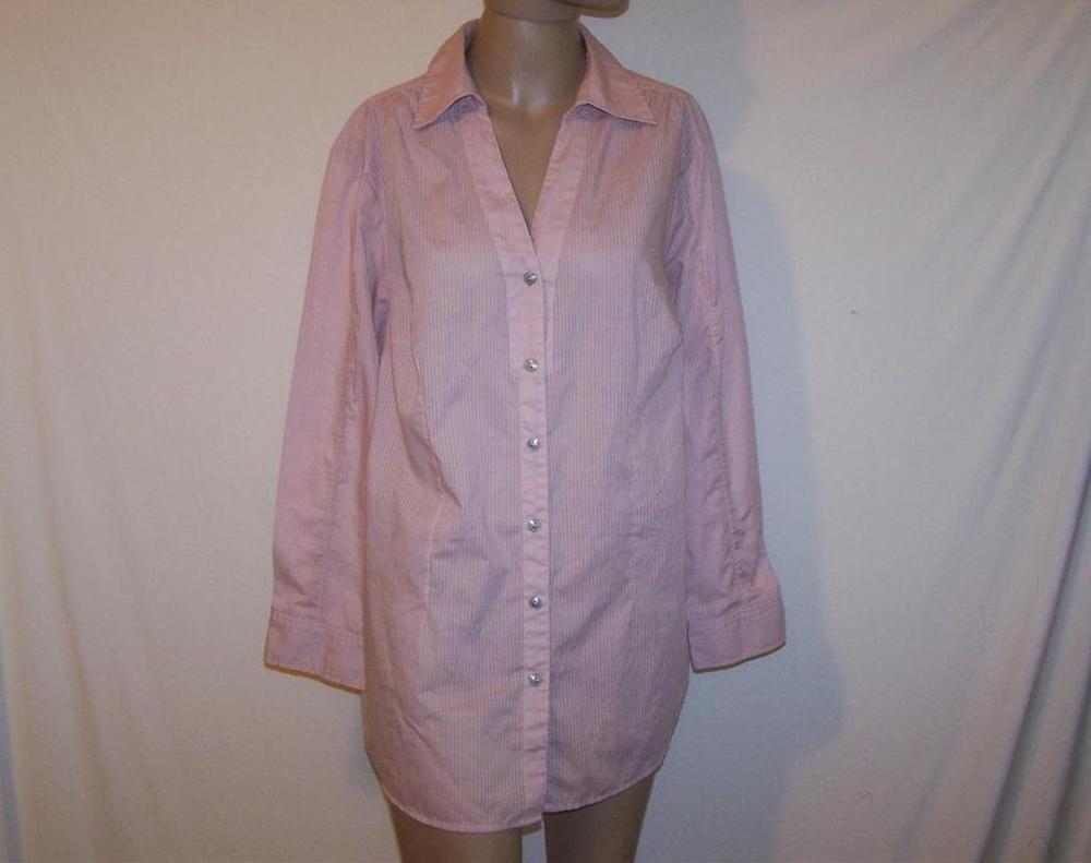 Legging Shirt AVENUE Sz 18/20 Button Front Long Sleeves Roll Up Button Tabs #Avenue #ButtonDownShirt #Casual