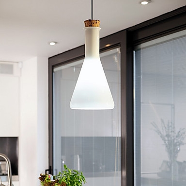 62.99$  Watch now - http://aliyu2.worldwells.pw/go.php?t=32309841986 - 60W Contemporary Pendant Light with Glass Shade in Flask Design For dining room living room,E26/E27,Bulb Included 62.99$