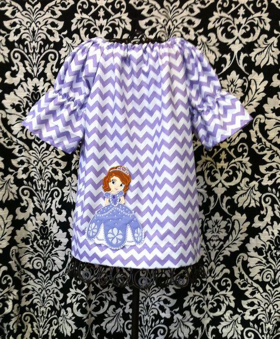 SOFIA the FIRST Custom Chevron Peasant Dress. $40.00, via Etsy.