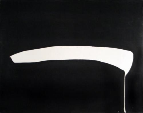 White Line on Black - Jiro Yoshihara