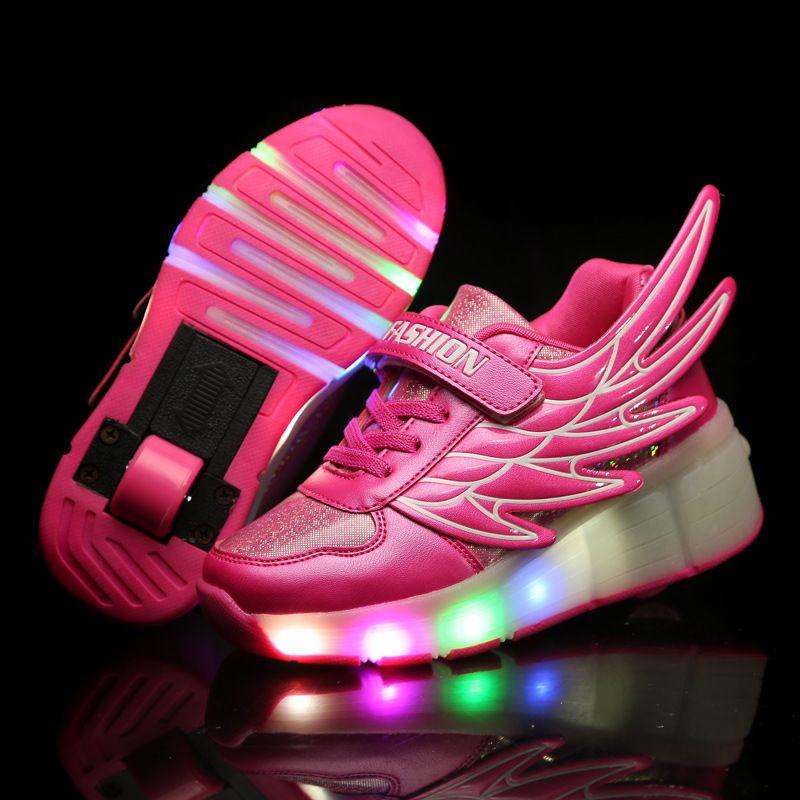 Ultra light Heelys Adult Children Boy Girls Automatic