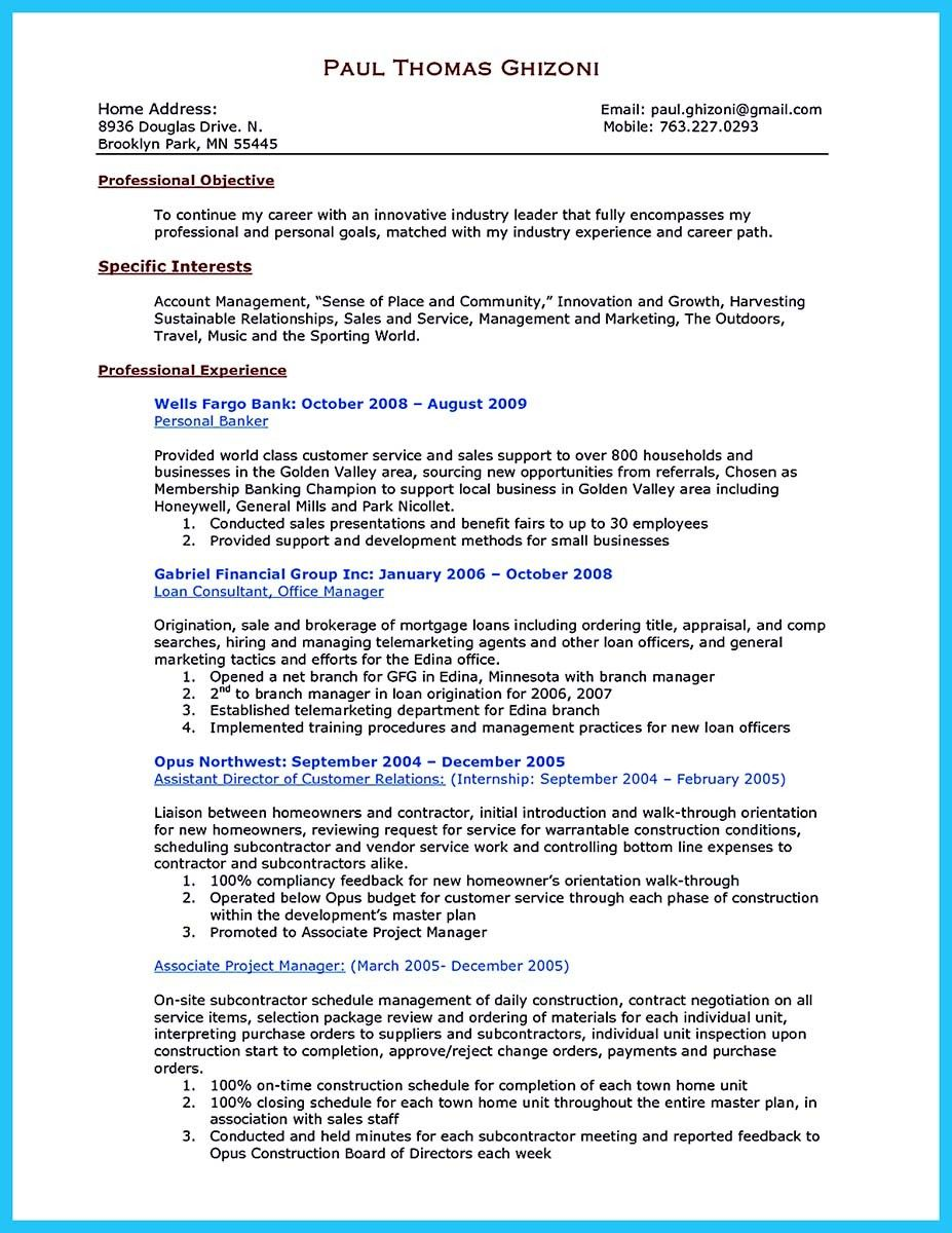 Cool One Of Recommended Banking Resume Examples To Learn Check