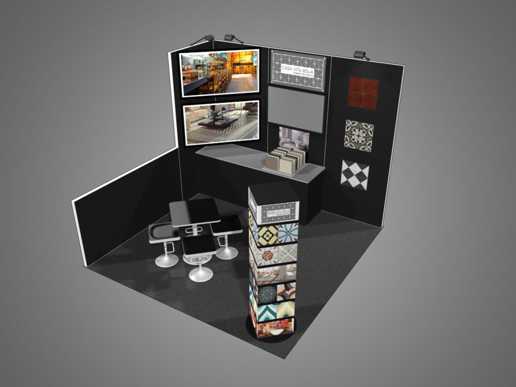 Exhibition Booth Displays : Coverings corner trade show exhibit