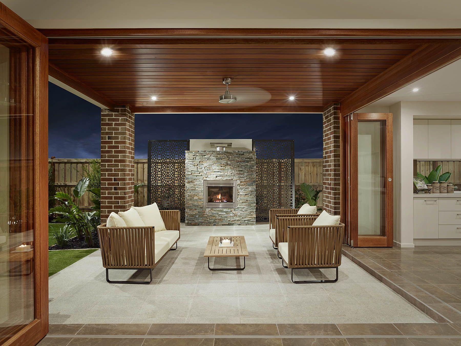 The monaco 36 integrates outdoor living with the open plan for Outdoor alfresco designs