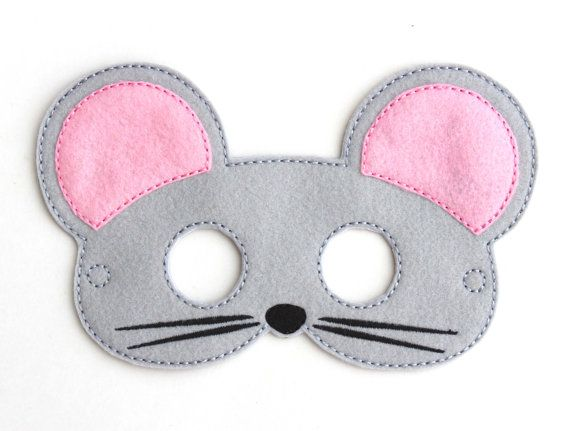 kids mouse mask mouse costume felt mask kids face mask