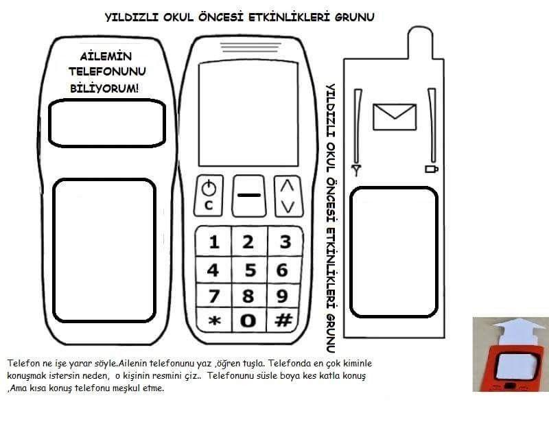 Anne Baba Telefon Numarasi Ogrenme Yontemi Telefon Boyama