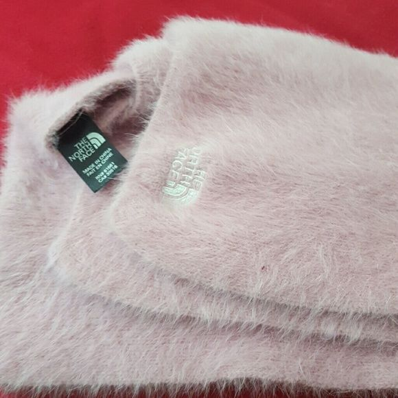 North Face Winter Scarf Winter Must Have! Angora Fabric, Light Baby Pink Shade, North Face Logo in White Stitching, Mint Condition North Face Accessories Scarves & Wraps
