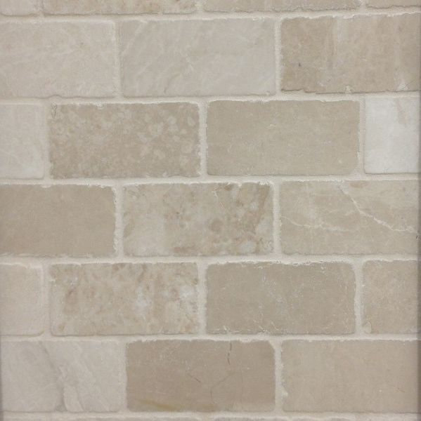 subway tile tumbled travertine m project pinterest