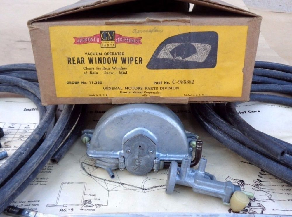Nos 1942 1948 Chevy Fleetline Rear Window Wiper Original Gm Accessory Trico Ebay Gm Accessories Rear Window Chevy