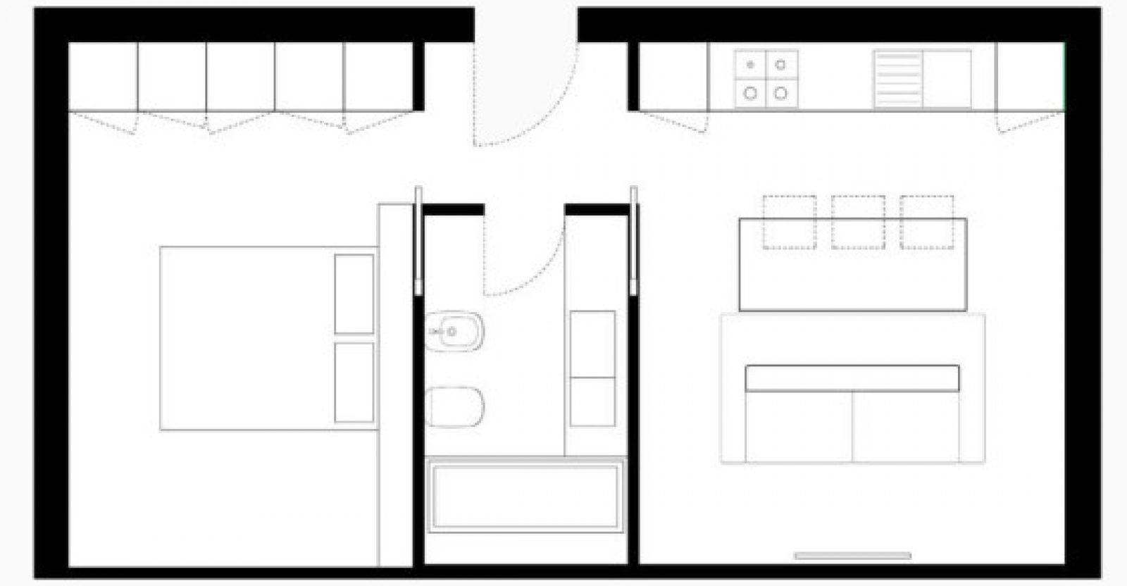 Planos de peque o departamento d plex descubre la armon a for Diseno apartamentos duplex pequenos
