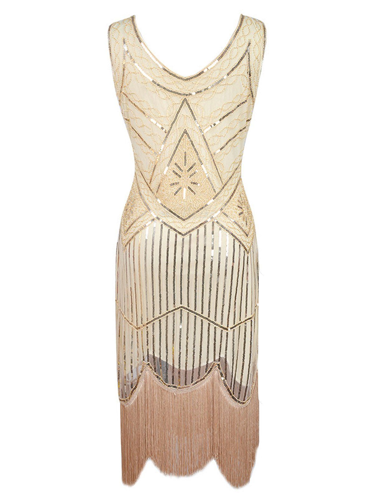 dea2c5aee5d Apricot 1920s Beaded Sequin Flapper Dress – Retro Stage - Chic Vintage  Dresses and Accessories