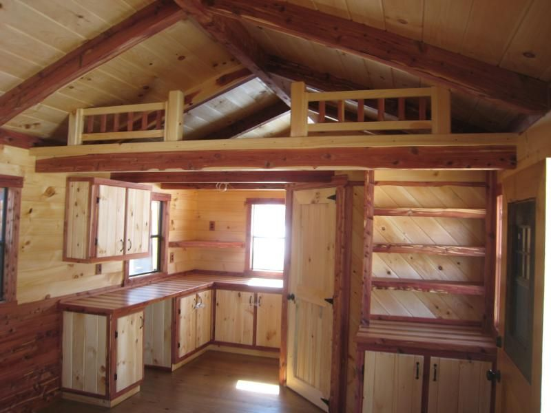 Trophy Amish Cabins Llc 12 X 32 Lodge Cedar Deluxe