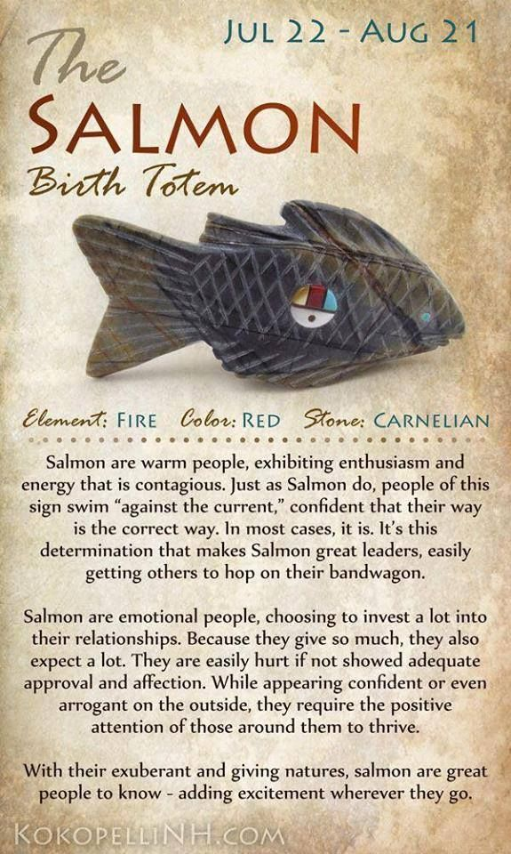 Salmon Birth Totem Avec Images Astrologie Amerindienne Totem