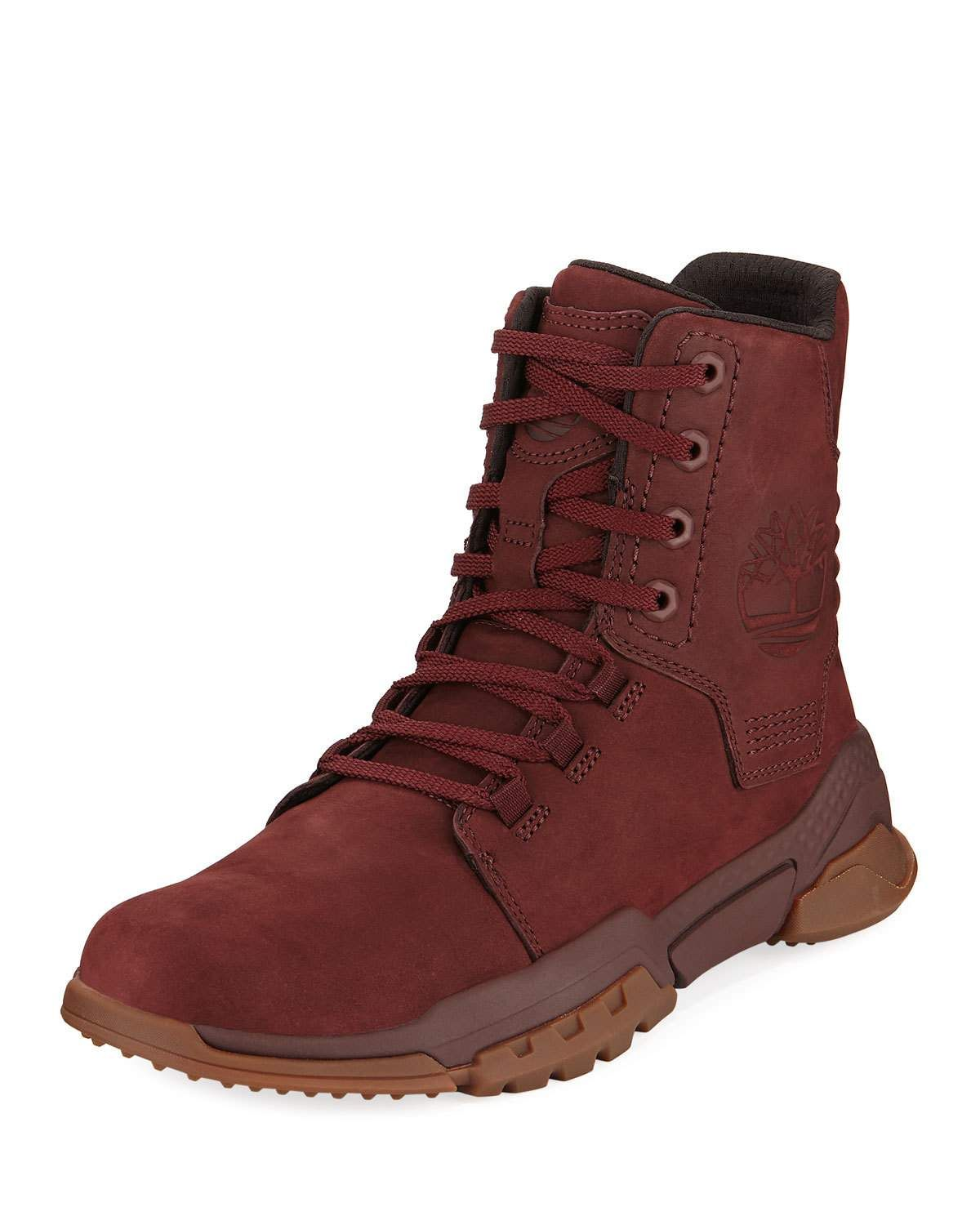 c7a457d6b32 TIMBERLAND MEN'S CITY FORCE REVEAL LEATHER BOOTS, RED. #timberland ...
