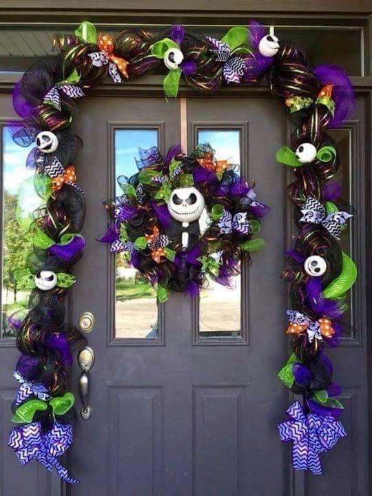 Pin by Princess Jasmine on Wreaths Pinterest Wreaths - halloween decoration outside