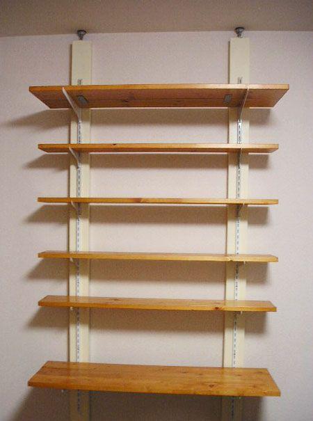 突っ張り壁面収納 Diy 棚 作り方 壁収納 Diy 収納棚の作り方