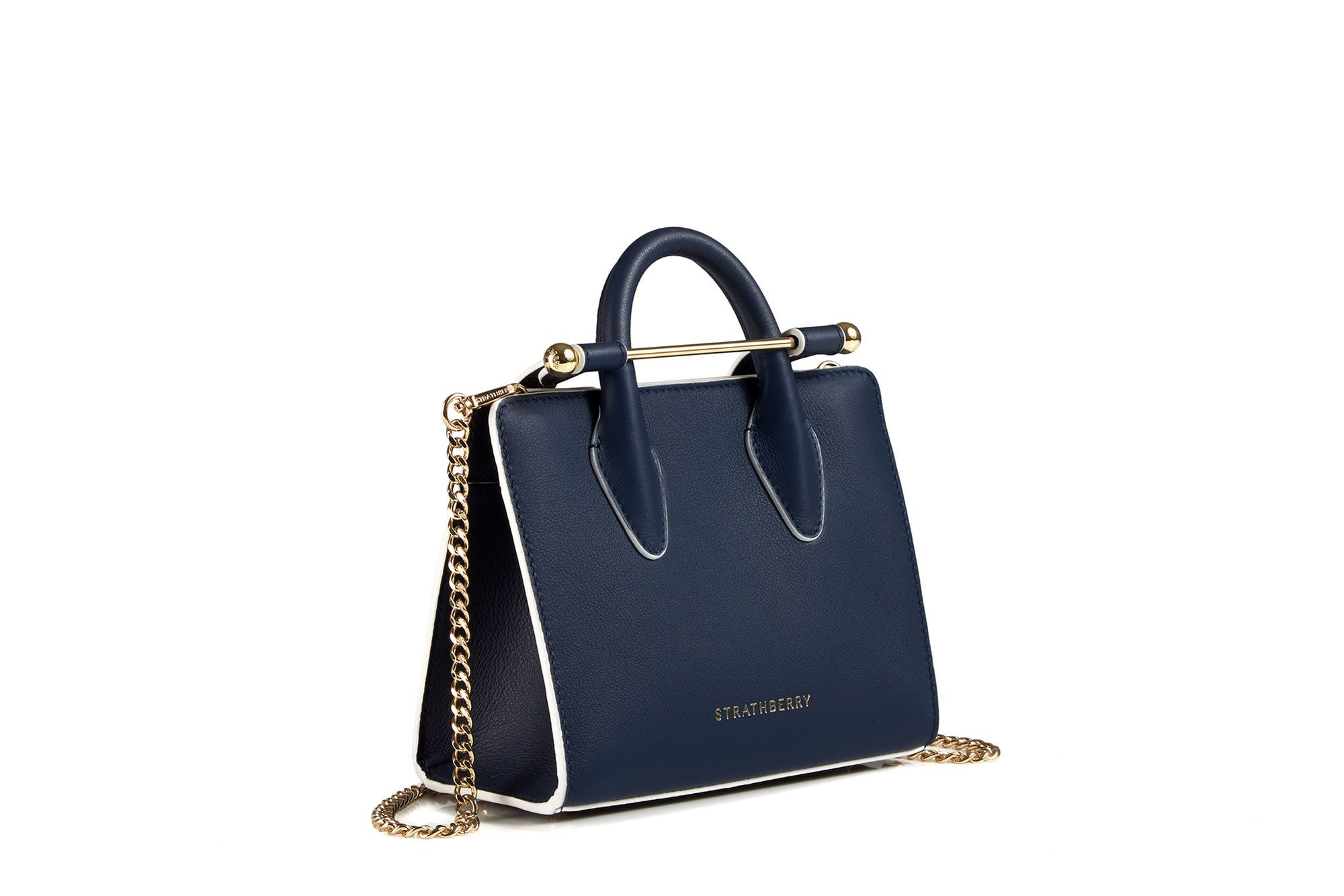 b382e9f31228 STRATHBERRY THE STRATHBERRY NANO TOTE - NAVY WITH EDGE.  strathberry  bags   shoulder bags  hand bags  suede  tote  lining