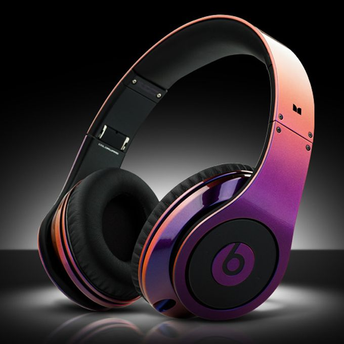 Iridescent Beats By Dre Headphones By Colorware 1000 Beats Studio Headphones Cheap Beats Headphones Dre Headphones