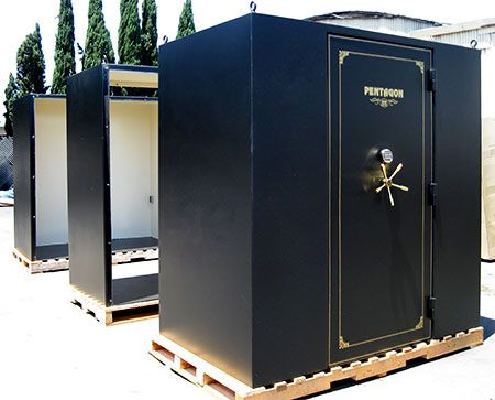 Storm shelters tornado shelters hurricane shelters for Gun vault room