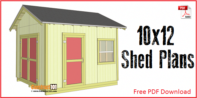 Shed Plans 10x12 With Gable Roof Plans Include A Free Pdf Download Step By Step Details Drawings Measurements Shed Plans Diy Shed Plans Storage Shed Plans