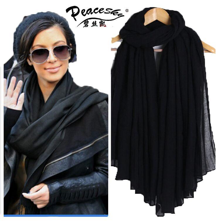 2015 Nuevas Mujeres de La Moda Bufandas de Algodón Suave de Las Señoras pashmina Bufanda Chales Wraps Femenino Envío Libre bufanda del hijab musulmán de las mujeres