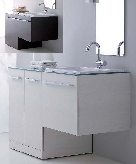 Mobile da bagno 10 colori con coprilavatrice per arredo for Disegno bagno online