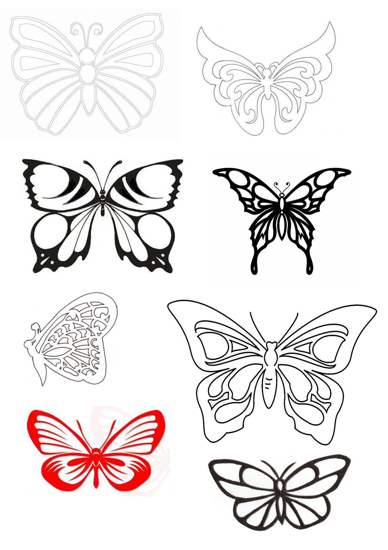 Шаблон бабочки открытка, любим открытки