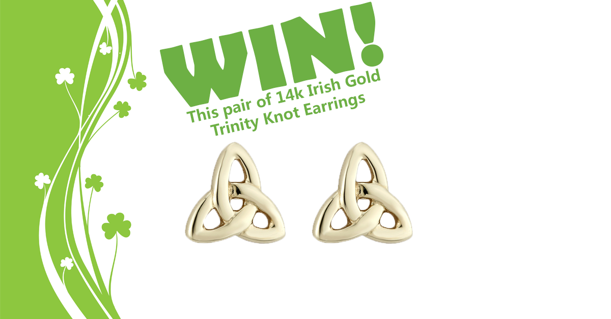 Enter for a chance to win a pair of 14k Gold Irish
