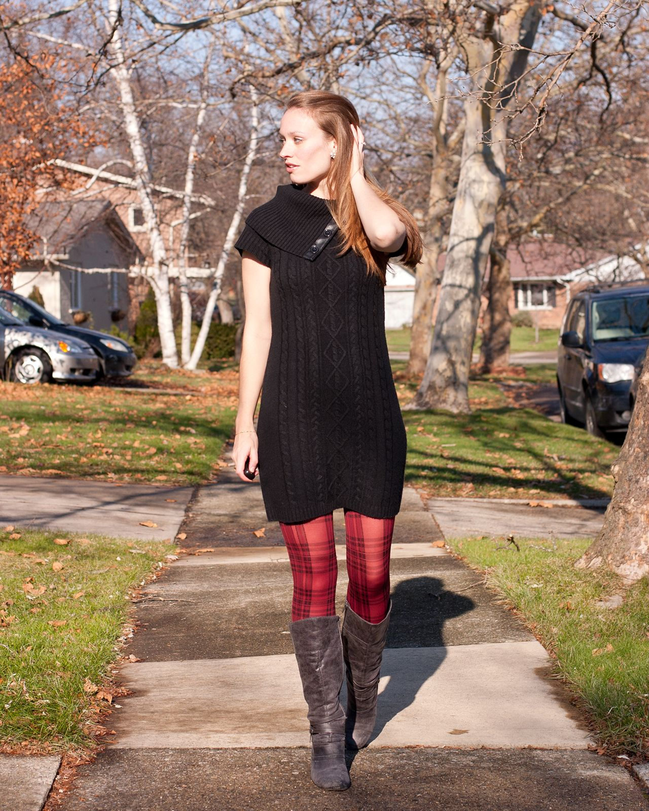Red Sweater Dress Tights