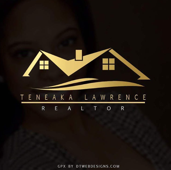 Teneaka Lawrence realtor logo designed by DT Webdesigns