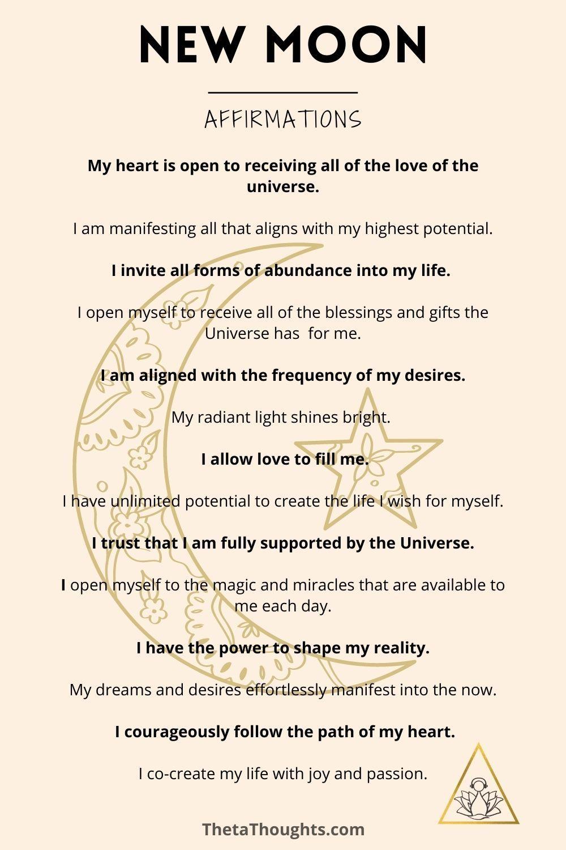 Positive Affirmation Meditation New Moon