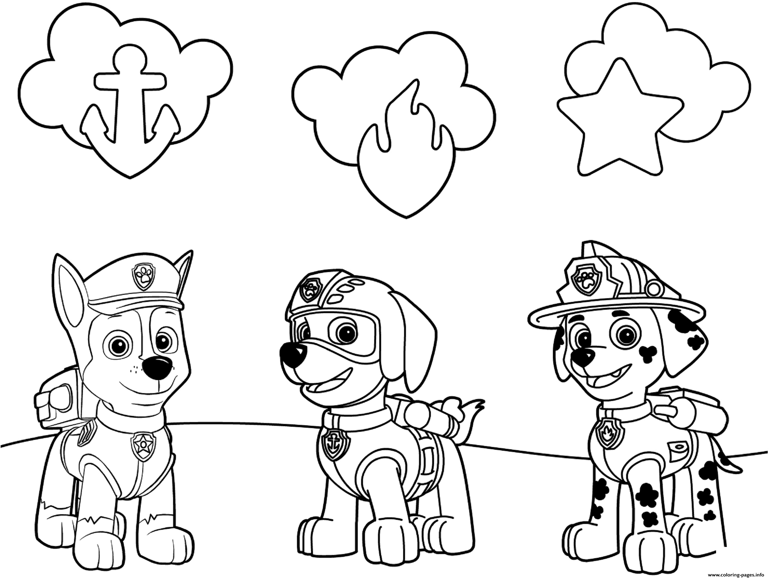 Free Printable PAW Patrol Coloring Pages are fun for kids