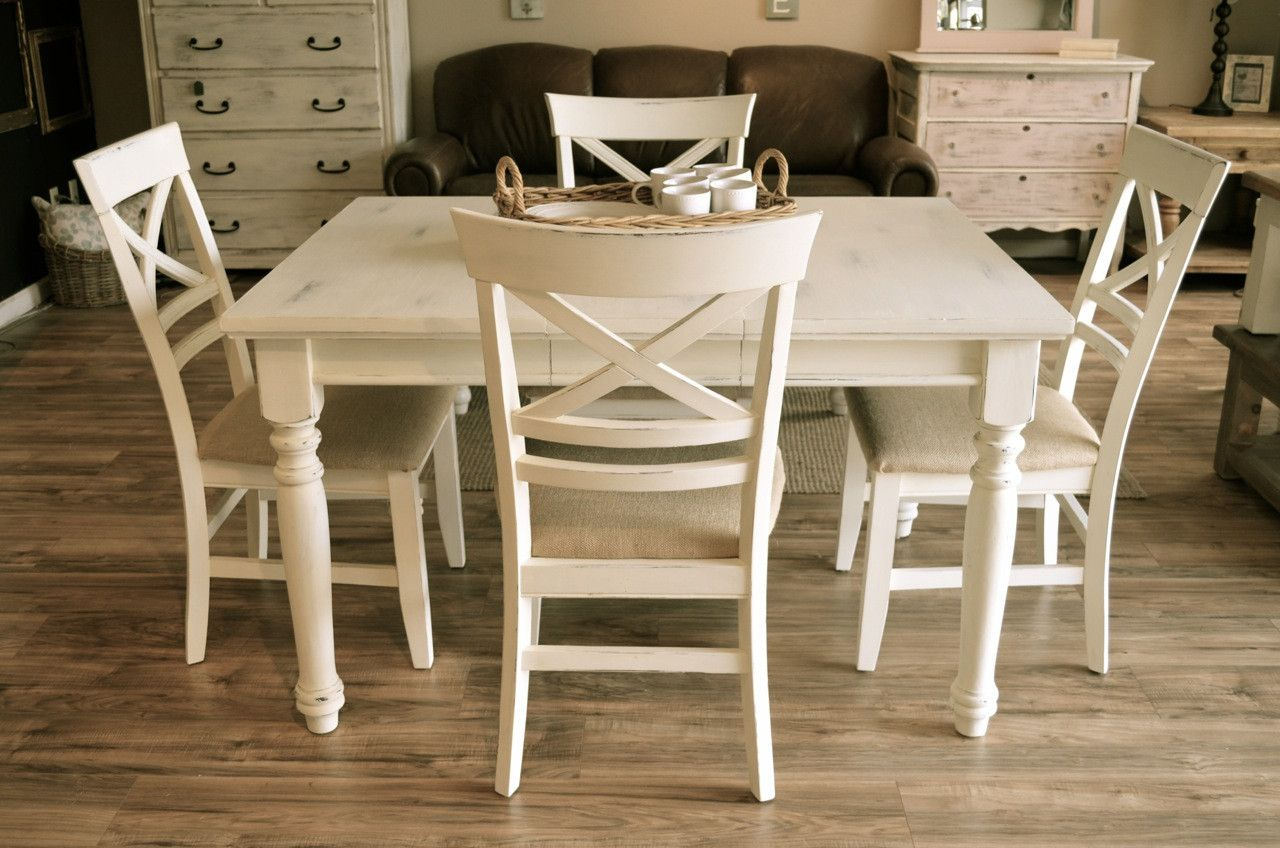 Farmhouse Off White Dining Set And Products
