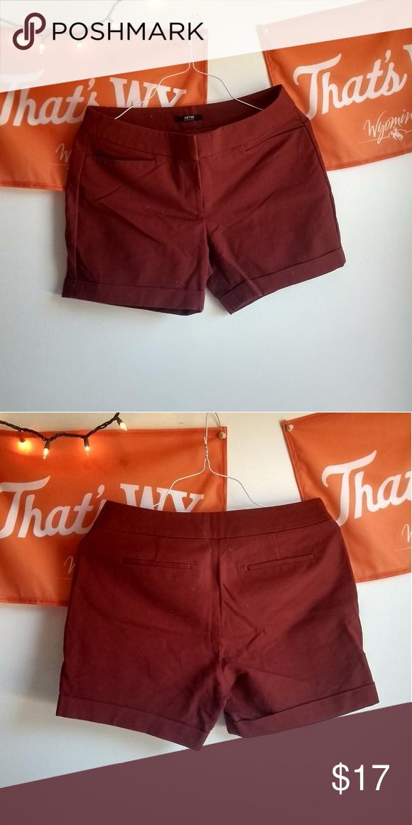 bb3477033 apt. 9 orange high waisted shorts stretchy comfy fabric