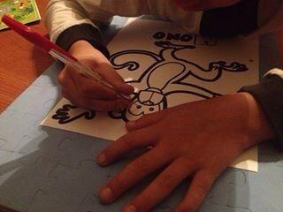 Puntillismo en dibujo, con aguja