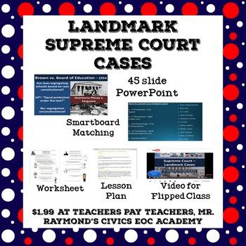 Landmark Supreme Court Cases Civics State Exam Landmark