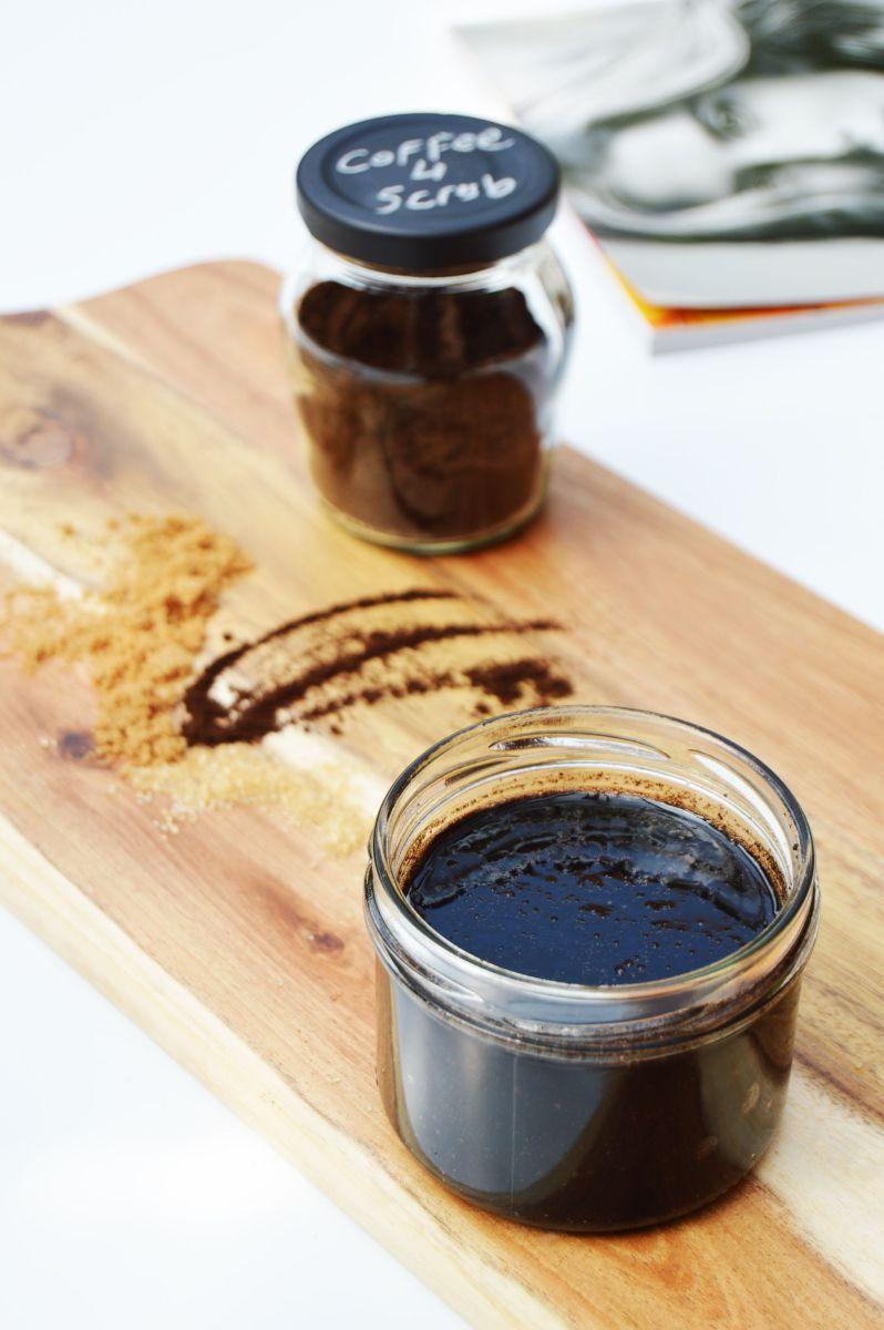 Diy coffee scrub for soft and hydrated skin coffee scrub
