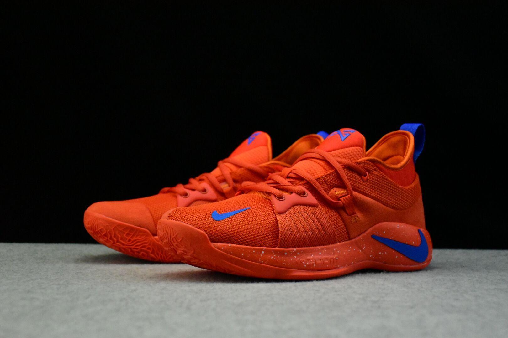 quality design 5eec5 ce647 Nike PG 2 Team Orange/Signal Blue Men's Basketball Shoes ...