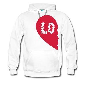 Valentine Heart Love Wedding Marriage half like Camisetas - Sudadera con capucha premium para hombre