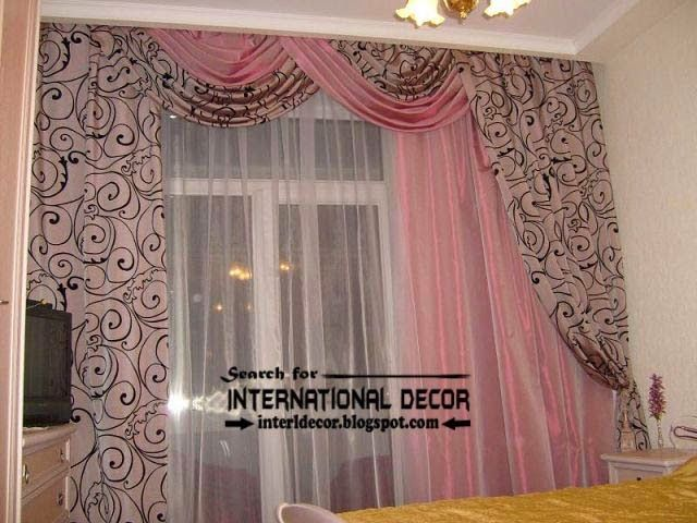 Stylish Drapes Curtain Design For Bedroom, Pink Curtains, Patterns Curtain  Fabric