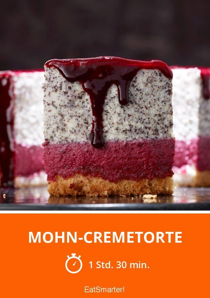 Mohn-Cremetorte